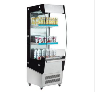 180L Glass Door Beverage Refrigerator Showcase Open Can Display Cooler With Inner Light