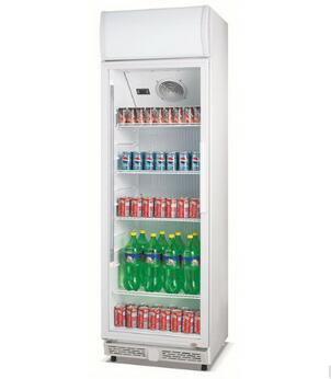 310L 360L Commercial Standing Upright Direct Cooling Beverage Refrigerator Showcase Glass Door Display Cold Room For Soft Drink