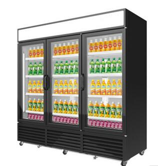 1018L Supermarket Showcase Vertical Refrigerated Commercial Fridge Glass Door Showcase Display Cooler Refrigerator