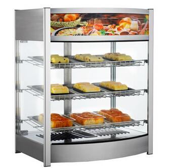 107L 137L Commercial Bakery Hot Food Display Warming Machine Bread Egg Tart Chicken Stainless Steel Food Warmer