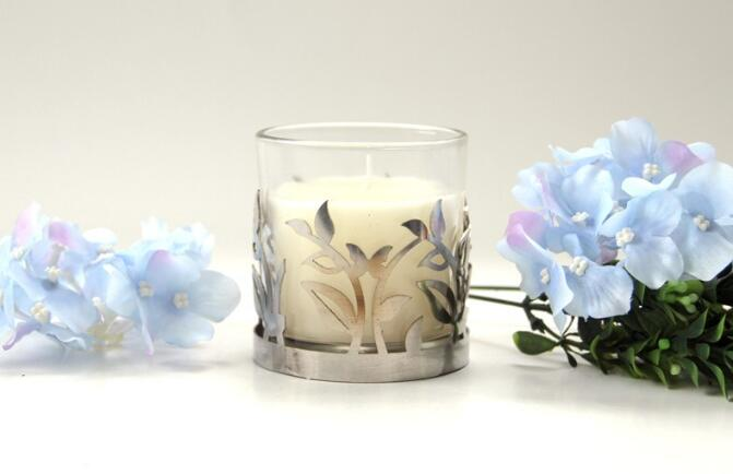 Home Decoration Clear Glass Cup Candle
