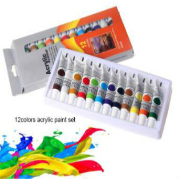 Private Label Artist Non-toxic 12pcs Acrylic Paint Set For Kids Painting