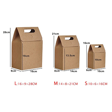 Kraft Paper Foldable Snacks Bags Candy Box Wedding Gifts Package size S