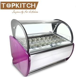 Gelato Ice Cream Display Showcase Freezer Counter in high quality