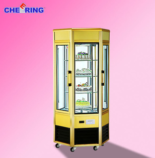 Rotary cheap glass cake display counter