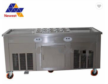 fry ice cream machine with flat table