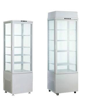 Double glass Refrigerated display case 235L black