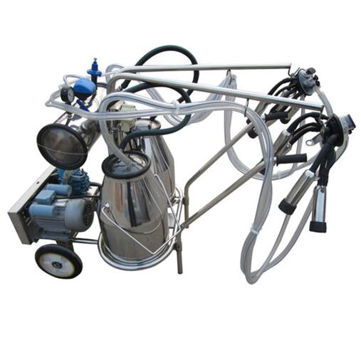 Reliable portable milking machine for cow two buckets supplier 10-12 cows per hour