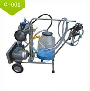 High Quality Electric Vacuum Pump-typed Single-barreled Mobile Milking Machine Supplier
