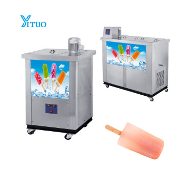 small ice lolly filling sealing lolly pop ice cream machine