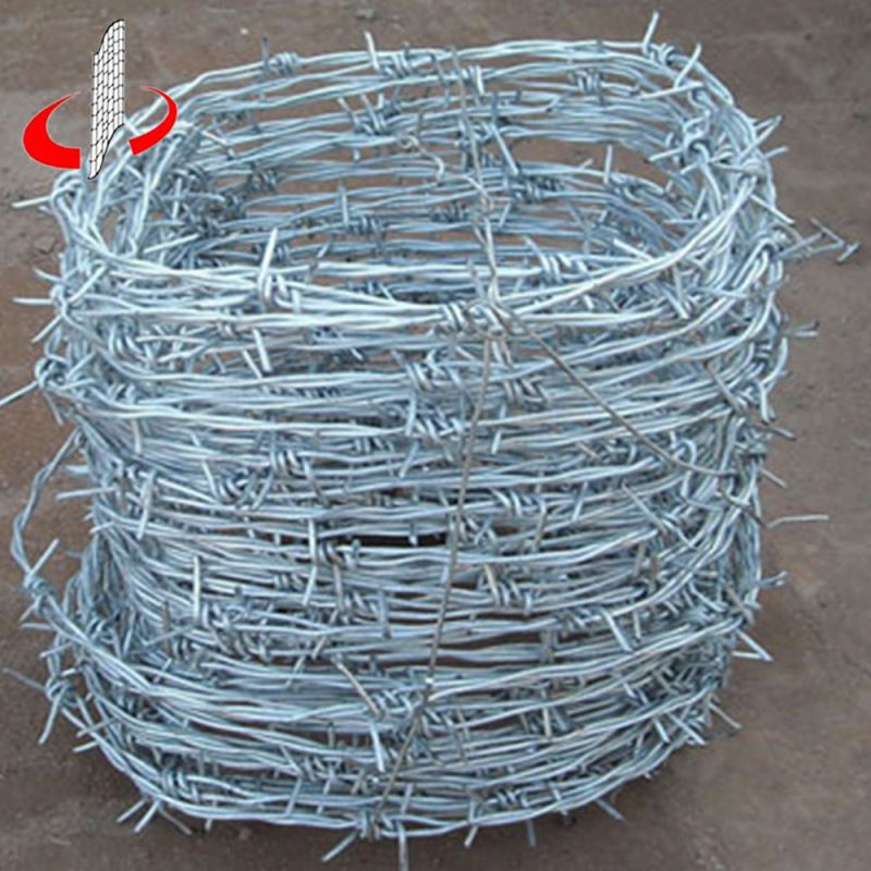Bulk 2 Strands Barbed Wire Length Per Roll for Sale