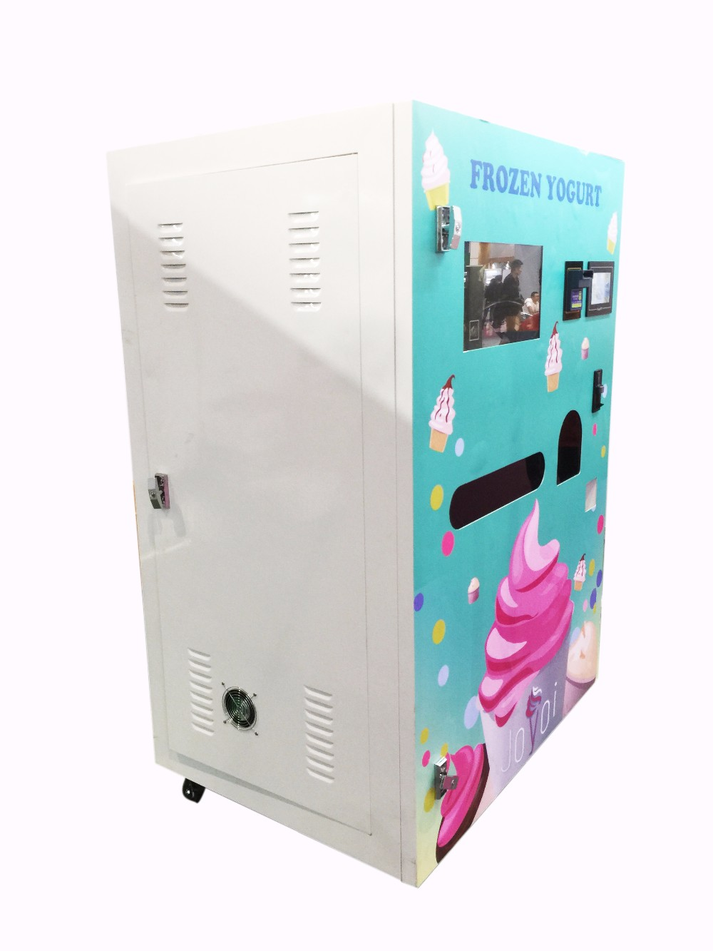 Automatic Optional Color Soft Ice Cream Coin Bill Credit Card Operated Vending Machine