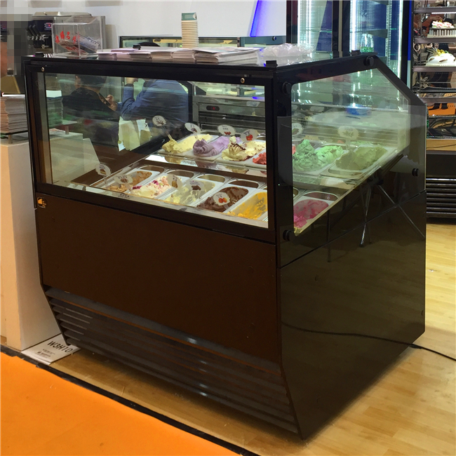 ice cream gelato popsicle display chiller made in China