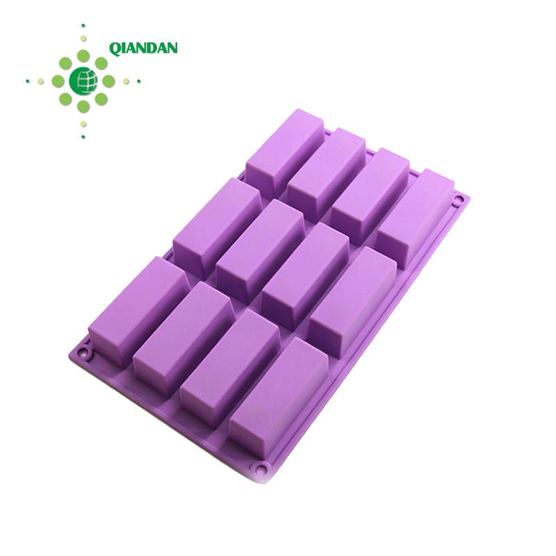12-Cavity Reusable Durable Custom Silicone Cake Mold Supplier