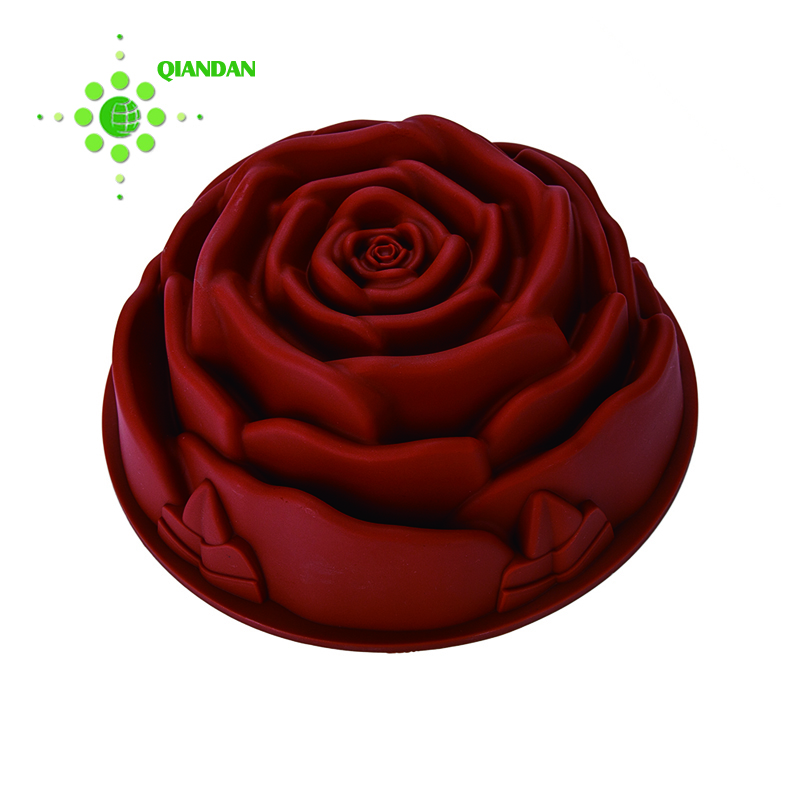 Eco-Friendly  Food Grade Silicone Rose Cake Mold for Sale