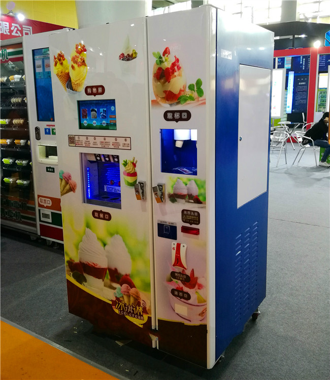 coin operated automatic vending ice cream machine for sale