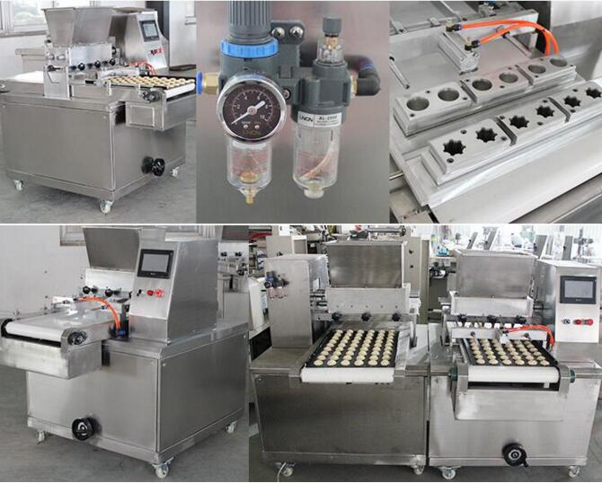 Double color depositing cookies machine cookies production line snack production line