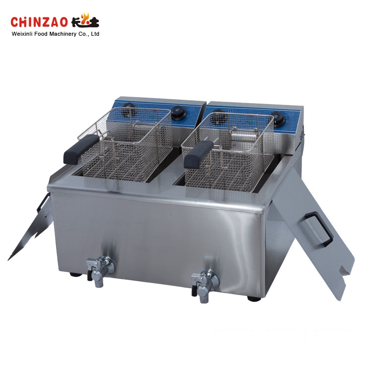 24L+24L Thermostat Controlled Electric Fryer for Sale