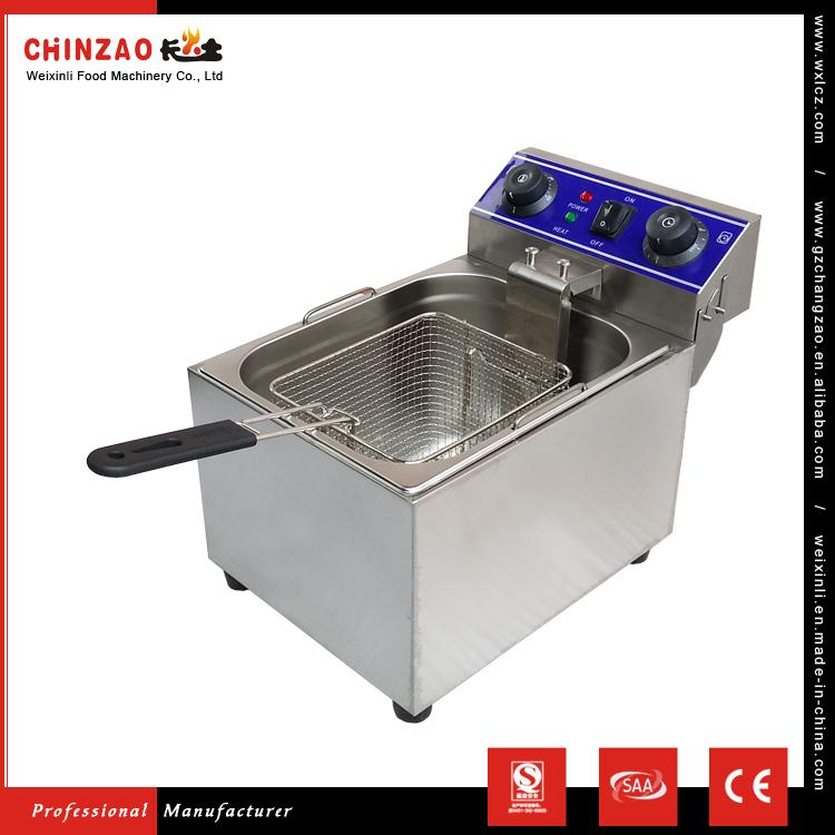 17L Gas Stainless Steel 1 Tank 1 Baket Electric Fryer Supplier