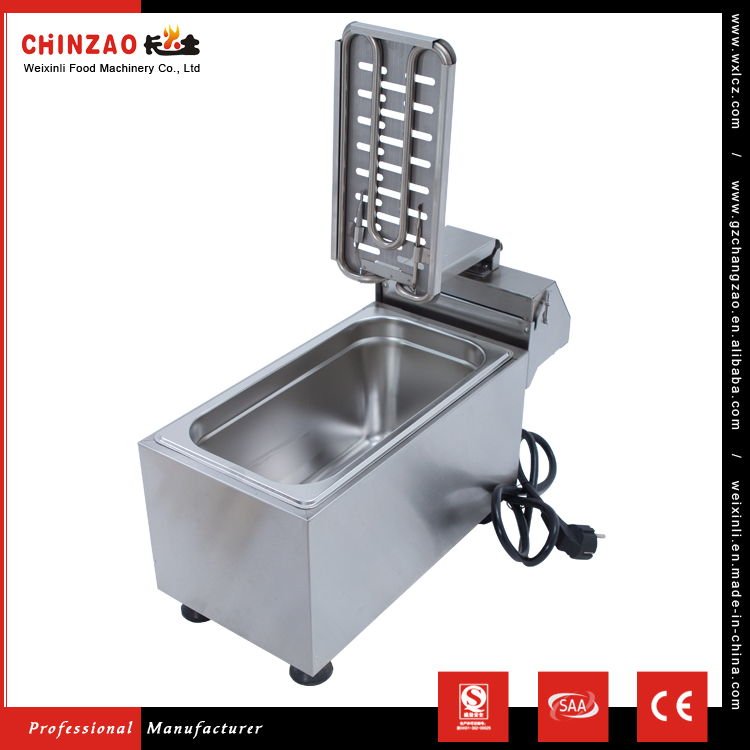 High Quality 8L 304 Stainless Steel Single Tank Electrical Banana Chip Fryer