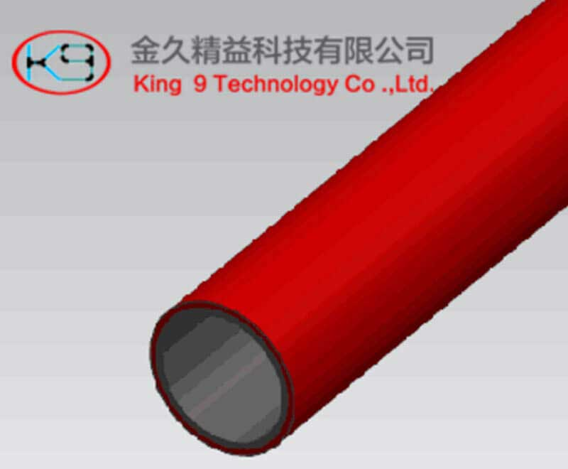 PE Coated Lean Tube (KJ-2010RE)