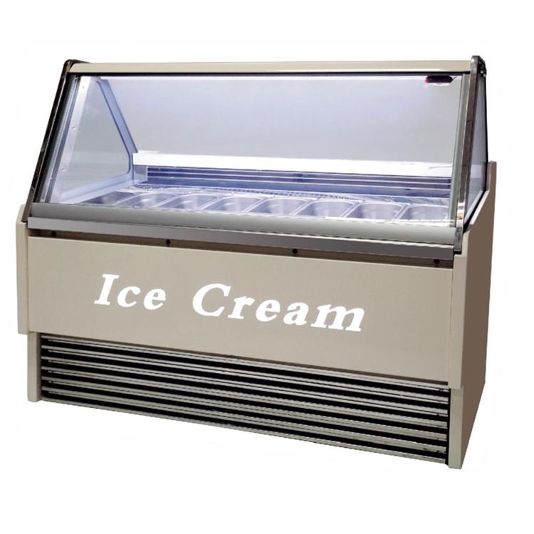 Fan Cooling System Ice Cream Refrigerator