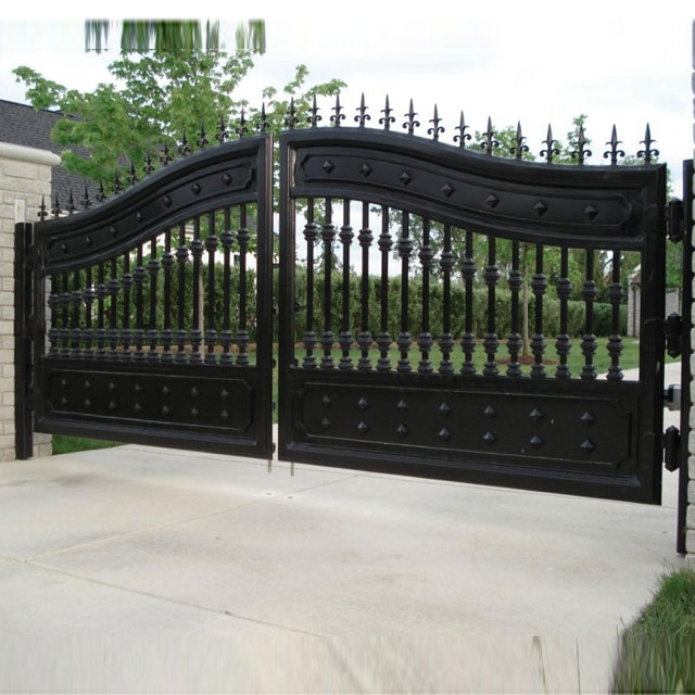 Superior Quality Decorative Wrought Iron Security Entrance Gates sale