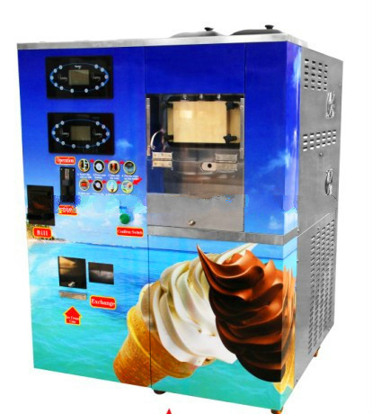 Bill And Coin Ice Cream Automatic Vending Machine