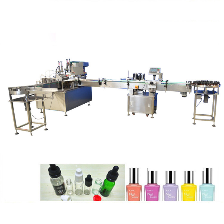 Automatic Nail Polish Remover Care Oil Small Bottle Filling And Cing Machine For
