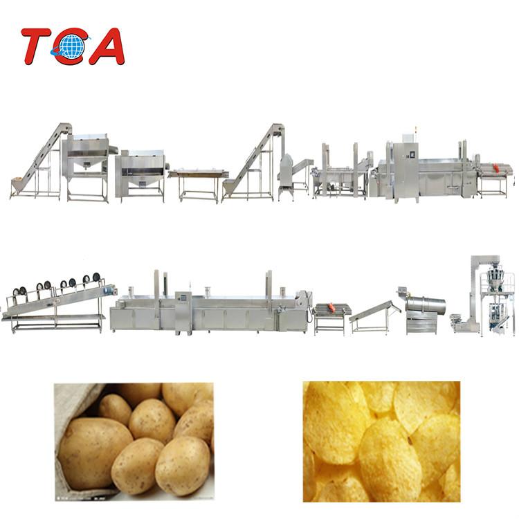 300kg/h Automatic Fresh Potato Chips Peeler Fryer Supplier
