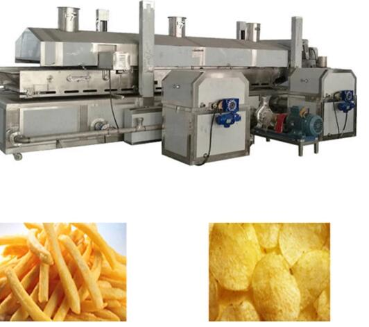 Potato Chips French Fries Continuous Frying Machine Manufacturer