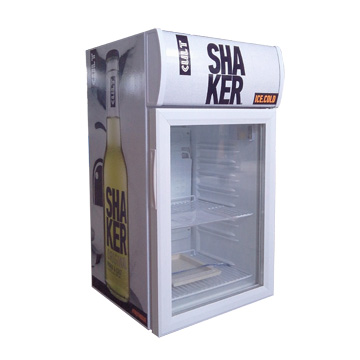 hotel mini beverage cooler with glass door sale
