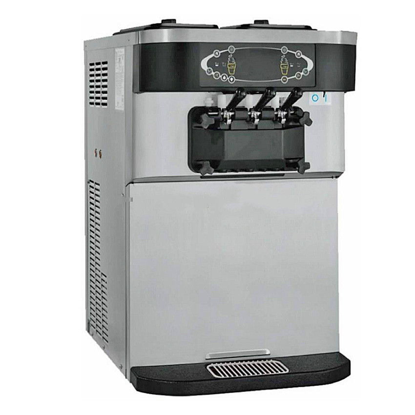 3 flavor soft ice cream maker machine with factory price