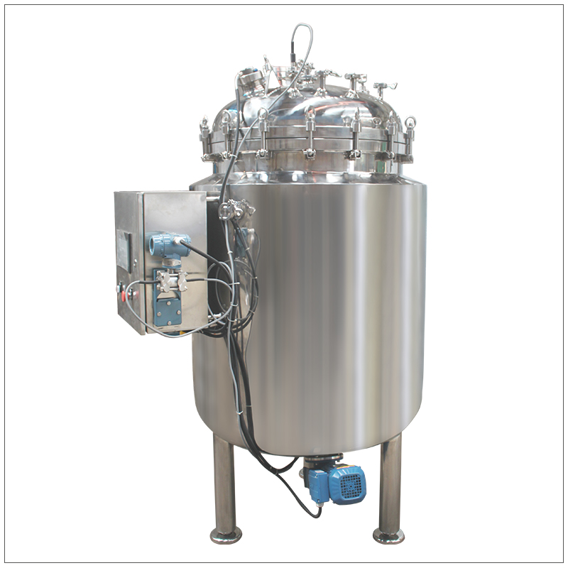 sanitary stainless steel jacketed mixing tank with agitator for sale