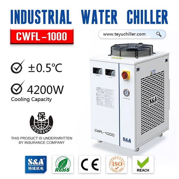 S&A refrigeration water chiller CWFL-1000 with dual waterways
