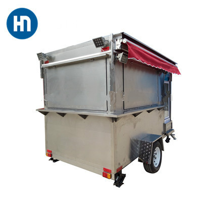 mobile fried ice cream roll cart food trailer