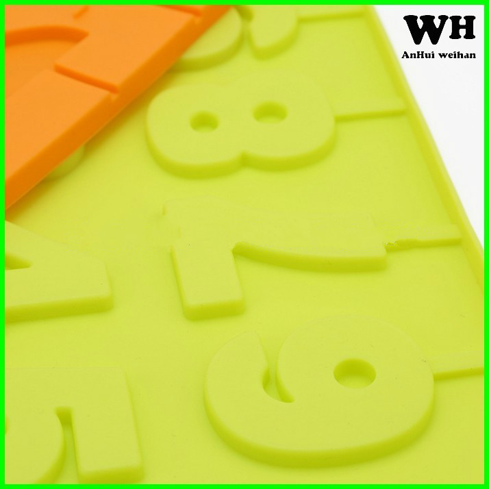 numbers 0-9 shaped 3D silicone lollipop molds, silicone molds