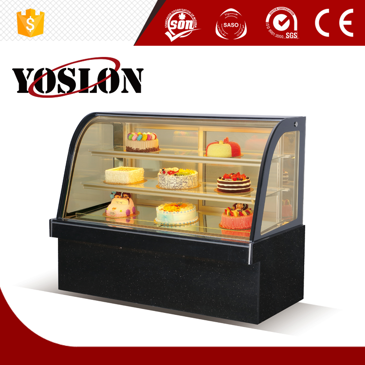 YSN-DH220 CE certificate approved cake showcase with three layer hot selling