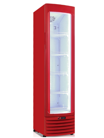 OEM 145L BIG showcase single door display freezer for beverage
