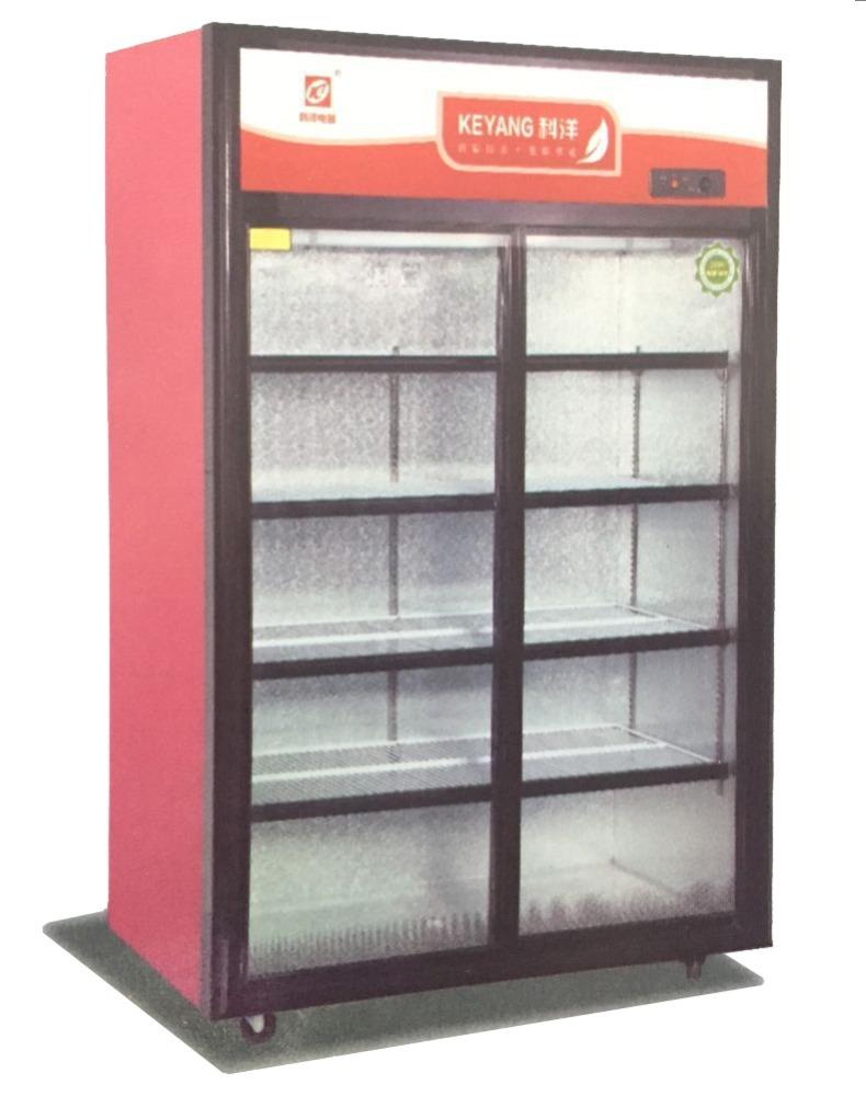 LSC-1500 single glass door upright chiller