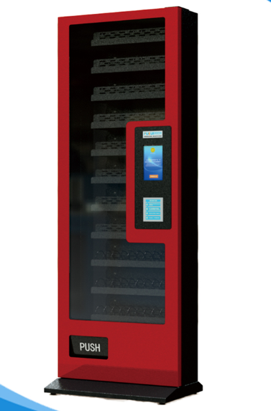 PKS-B3 Automatic Sanitary Napkin Snack Drinks Cigarette Condom Touch Screen Vending Machine With Card Reader