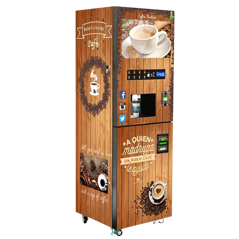 CE, RoHS, SASO Vending Machine Coffee With 22 LCD Advertising Screen