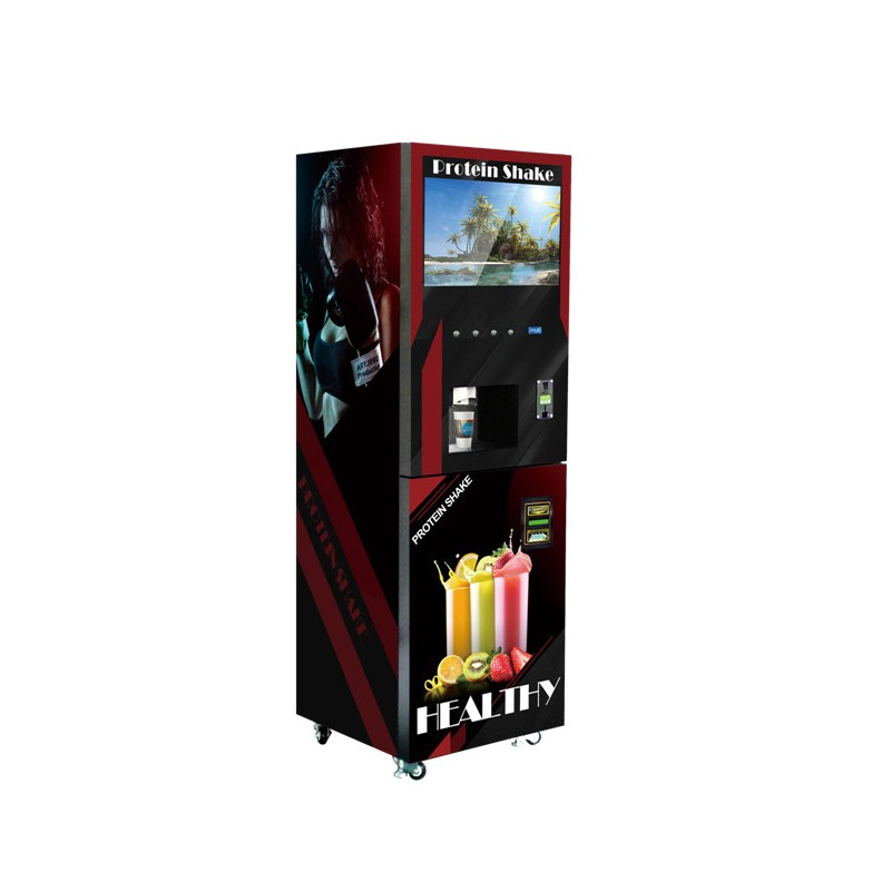 GTC304 Automatic coin banknote operated type Instant Powder Protein shake vending machine