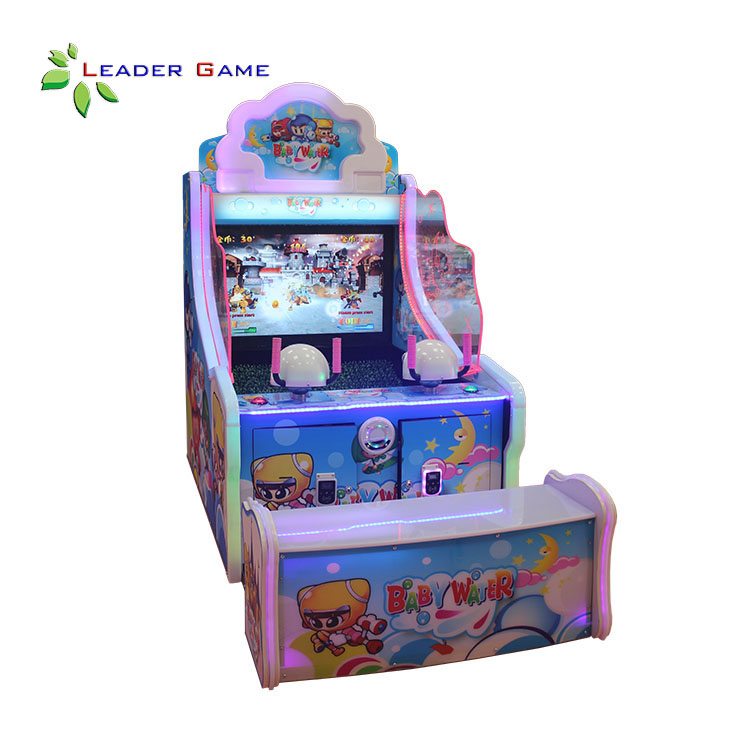 LG-KG-0001 Kids Coin Water Curtain Cave Shooting Game Machine