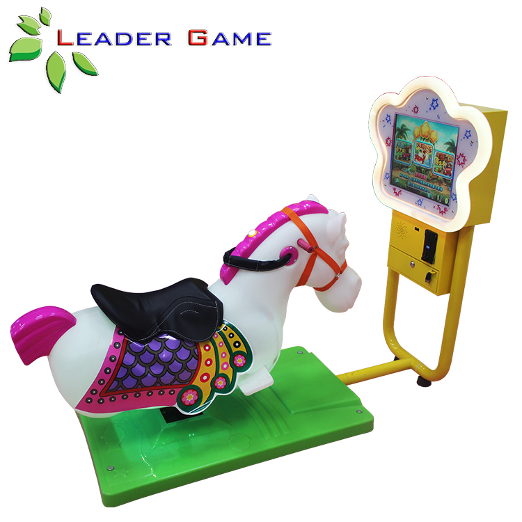 LG-KG-0004 Coin Operated Kids Arcade Simulator Horse Racing Game Machine