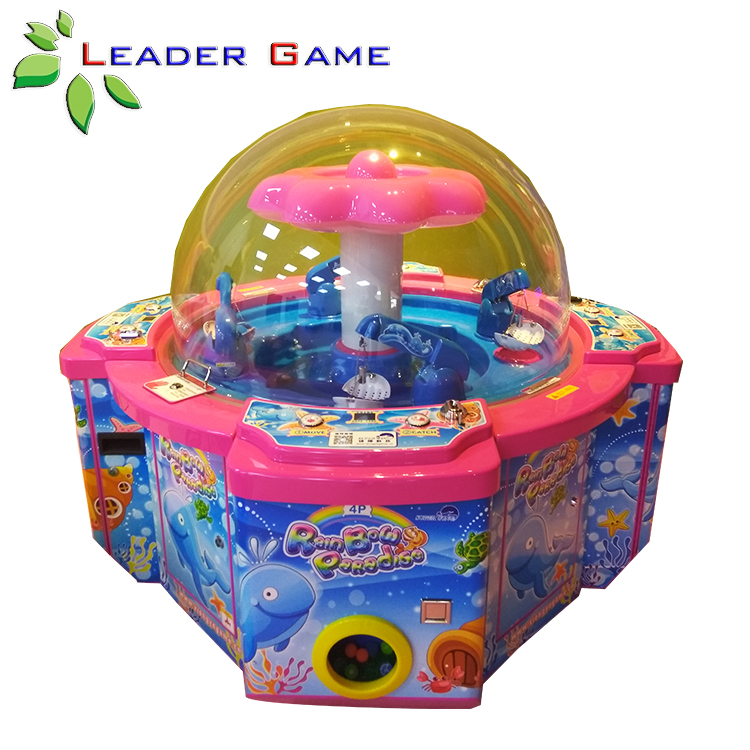 LG-KG-0006 Amusement Claw Crane Machine RainBow Paradise Coin Operated Electronic Game Machine For Kids
