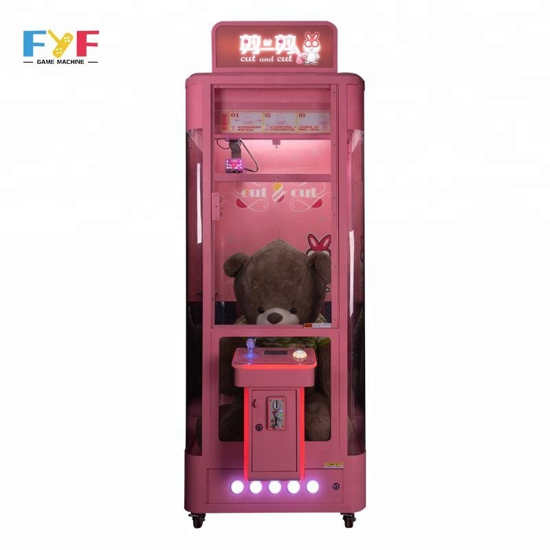 FYF arcade toy scissors toy crane game machines coin operated gift machine sale