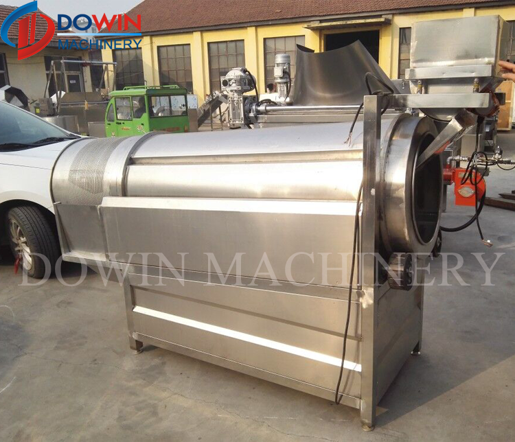 DOWIN Drum Flavoring Machine Drum Seasoning Machine Potato Chips Seasoning Machine
