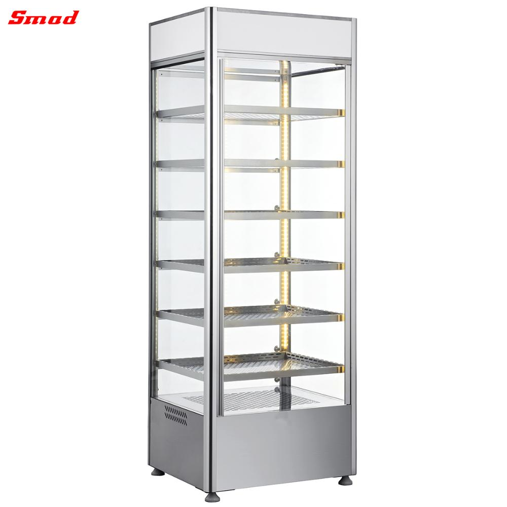 Stainless steel Upright Glass Food Warmer Display Showcase sale