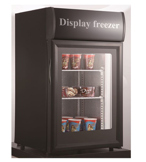 mini portable single door display freezer showcase sale